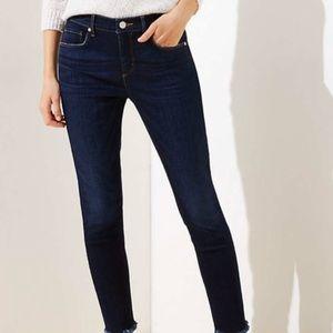 Ann Taylor LOFT Modern Dark Wash Skinny Jeans